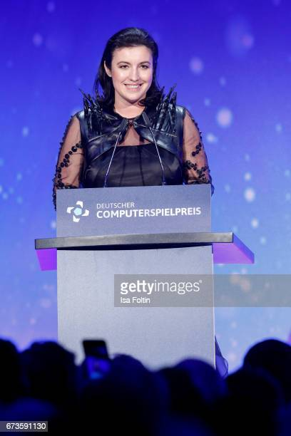 Dorothee Baer during the German Computer Games Award 2017 at WECC on April 26 2017 in Berlin Germany