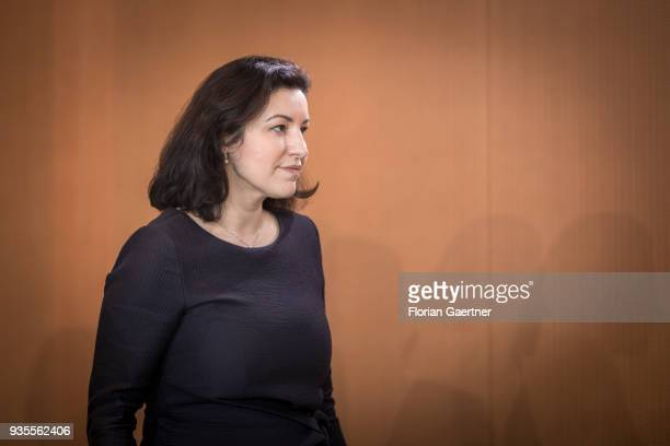 Dorothee Baer State Minister for Digitalization arrives for the weekly cabinet meeting of the Federal Government on March 21 2018 in Berlin Germany