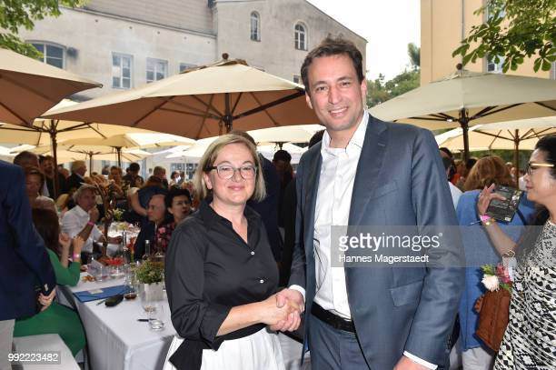 Dorothee Erpenstein and Georg Eisenreich attend the FFF reception during the Munich Film Festival 2018 at Praterinsel on July 5 2018 in Munich Germany