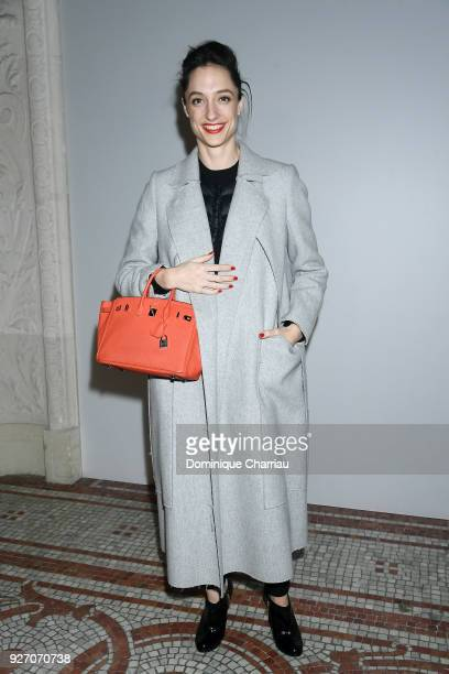 Dorothee Gilbert attends the Poiret show as part of the Paris Fashion Week Womenswear Fall/Winter 2018/2019 on March 4 2018 in Paris France