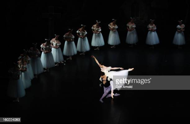 Dorothee Gilbert performs the role of Giselle and Mathieu Ganio performs the role of The Prince during the Paris Opera Ballet production of Giselle...