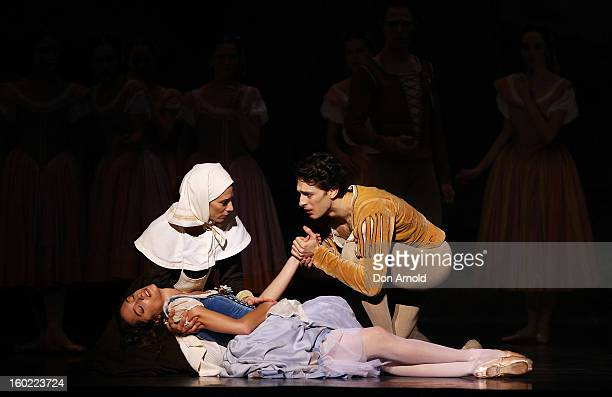 Dorothee Gilbert plays the role of Giselle and Mathieu Ganio the role of The Prince during the Paris Opera Ballet production of Giselle at the...