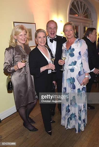 Dorothee Meyer-Burckhardt, Cornelia Poletto, Hubertus Meyer-Burckhardt and Barbara Karan attend the 'Champagnepreis fuer Lebensfreude' at Hotel Louis...