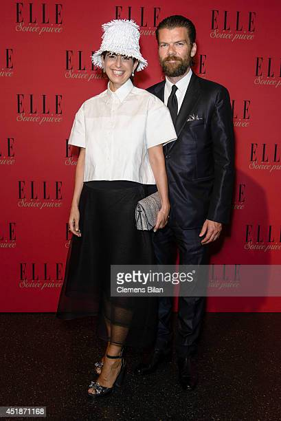 Dorothee Schumacher and a guest attend the Elle Soiree Privee during MercedesBenz Fashion Week Spring/Summer 2015 at Lapidarium on July 8 2014 in...