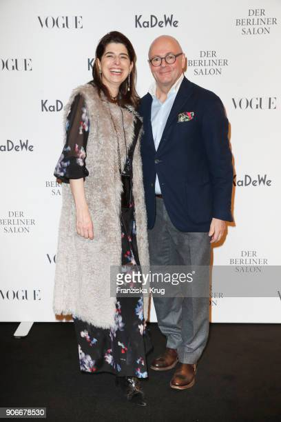 Dorothee Schumacher and Andre Maeder during the celebration of 'Der Berliner Salon' by KaDeWe Vogue at KaDeWe on January 18 2018 in Berlin Germany