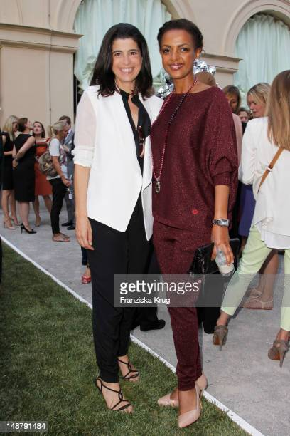 Dorothee Schumacher and Dennenesch Zoude attend the Schumacher Store Opening on July 19, 2012 in Munich , Germany.