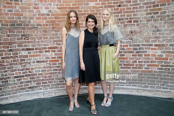 Dorothee Schumacher attends the Schumacher show during the MercedesBenz Fashion Week Spring/Summer 2015 at Sankt Elisabeth Kirche on July 10 2014 in...