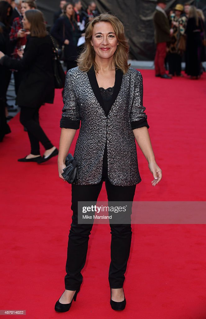 Dorothy Atkinson attends a screening of 'Mr Turner' during the 58th BFI London Film Festival at Odeon West End on October 10, 2014 in London, England.
