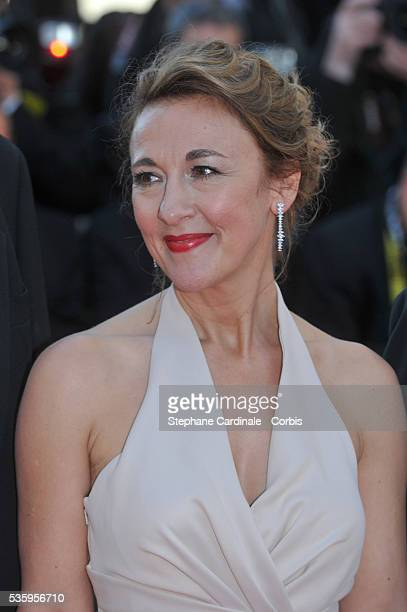 Dorothy Atkinson attends the 'Mr Turner' premiere during the 67th Cannes Film Festival