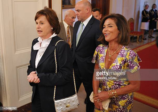 Dorothy Bush Koch the sister of former US president George W Bush arrives for the official portrait unveiling of his brother and his wife Laura Bush...