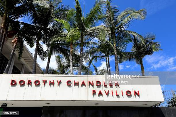 Dorothy Chandler Pavilion signage in Los Angeles California on September 10 2017 MANDATORY MENTION OF THE ARTIST UPON PUBLICATION RESTRICTED TO...