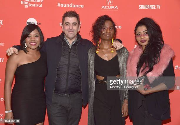 Dorothy Cuyler director Eugene Jarecki Carla Cuylear and Natasha Cuylear attend The King Premiere during the 2018 Sundance Film Festival at The Marc...