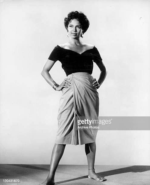 Dorothy Dandridge strikes a pose in a scene from the film 'Carmen Jones' 1954