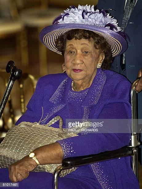 Dorothy Height born in 1912 and who advanced the liberation of black women attends a White House reception 01 July to commemorate the 40th...