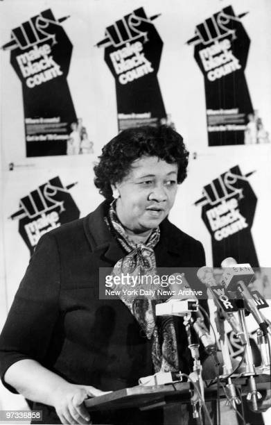 Dorothy Height President of National Council of Negro Women speaks on the 1970 Black Census at press conference