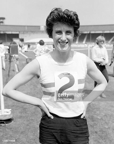 Dorothy Hyman of Great Britain at the White City stadium in London circa 1966