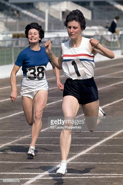 Dorothy Hyman of Great Britain in action at the Women's Amateur Athletics Association Championships at White City Stadium on 4th July 1964