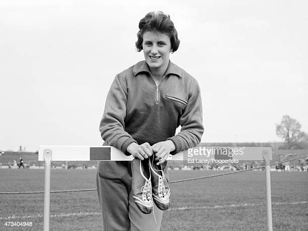 Dorothy Hyman of Great Britain poses for a photograph on 3rd April 1960