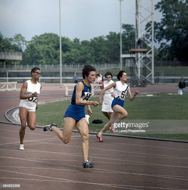 Dorothy Hyman of Great Britain running in a women's 200 metres track event at Crystal Palace in London on 19th July 1969