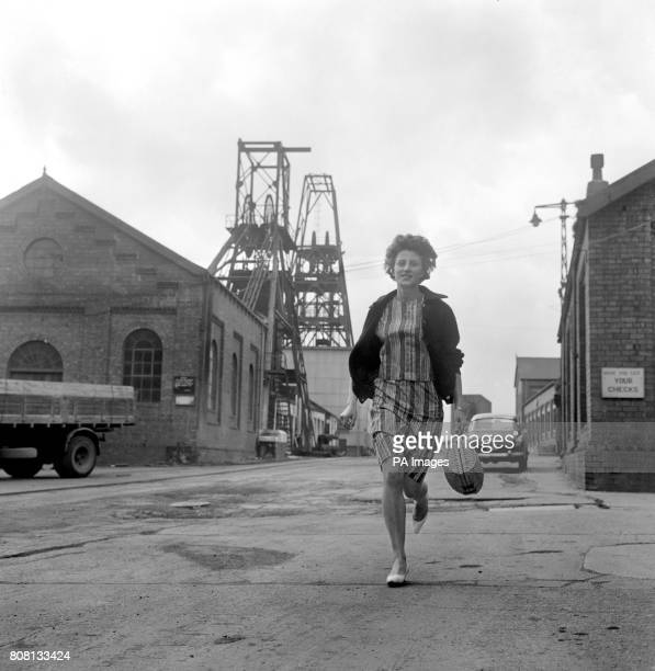 Dorothy Hyman the Yorkshire sprinter runs home from Woolley Colliery Barnsley where she works as a tracer in the planning office Dorothy was a member...