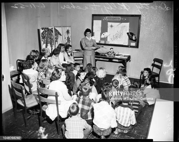 Dorothy Kelly at Cowan Avenue School 11 June 1952 Dorothy Kelly Carole OsterlokBruce RiblettCaption slip reads 'Sunday or Monday Photographer Lapp...