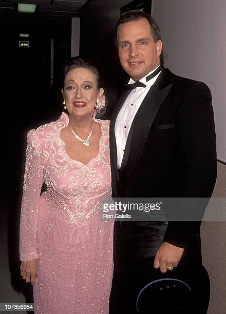 Dorothy Lamour and Garth Brooks during Taping of TV Special Bob Hope Friends at NBC Studios in Burbank California United States