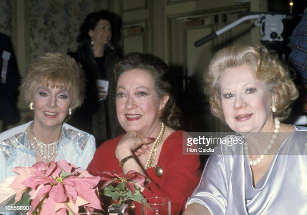 Dorothy Lamour and Virginia Mayo during The 46th Annual Golden Apple Awards at Beverly Wilshire Hotel in Beverly Hills California United States
