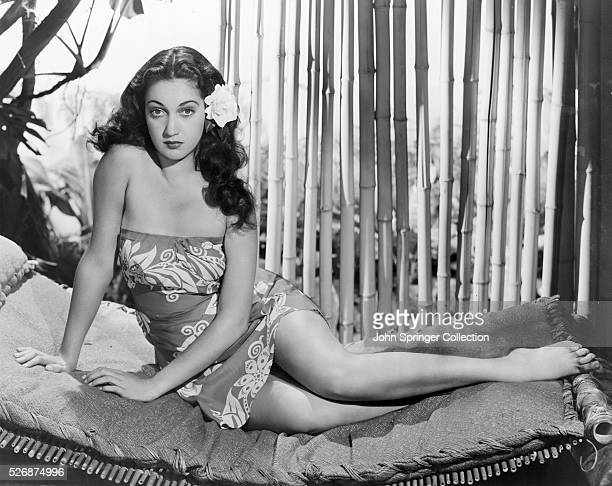 Dorothy Lamour plays the title role in the 1941 film Aloma of the South Seas