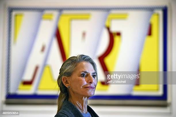 Dorothy Lichtenstein attends a new exhibition devoted to her late husband American Pop artist Roy Lichtenstein which being held at the Scottish...