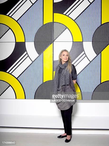 Dorothy Lichtenstein widow of Artist Roy Lichtenstein poses on June 29 2013 in Paris France