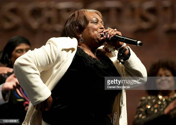 Dorothy Norwood attends the memorial service for Albertina Walker at the Apostolic Church of God on October 14 2010 in Chicago Illinois