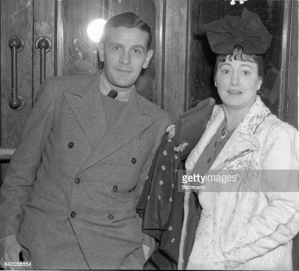 Dorothy Parker noted writer and humorist and her actor husband Alan Campbell are shown as they arrived in New York City frim Europe on the SS Champlin
