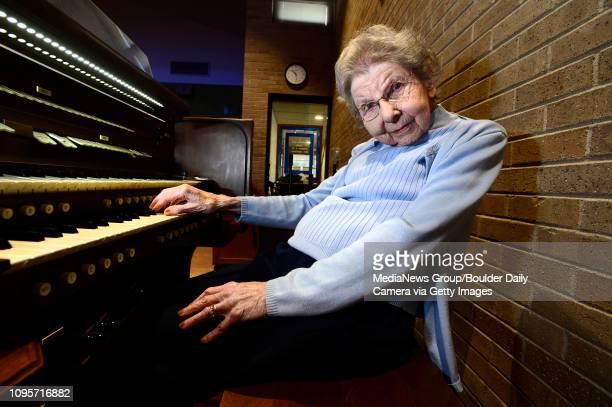 Dorothy Ransom organist at the Broomfield United Methodist Church