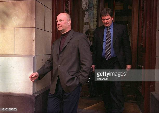 Dorothy Skura's husband Gerry Skura leaves the Victorian Supreme Court after she was sentenced to seven years for inciting to kill him 29 July 2003...