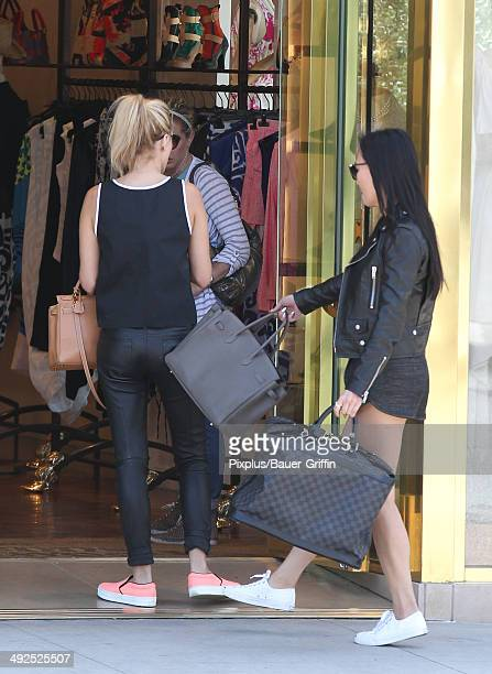 Dorothy Wang and Morgan Stewart filming Rich Kids of Beverly Hills on May 20 2014 in Los Angeles California