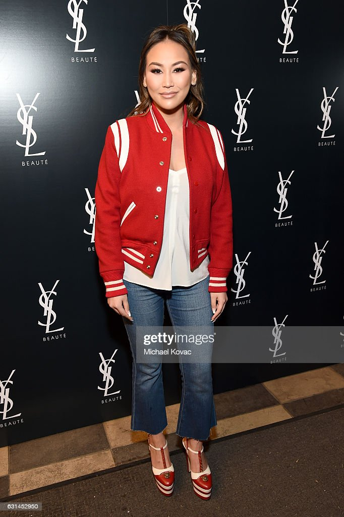 Dorothy Wang attends the YSL Beauty Club Party at the Ace Hotel on January 10, 2017 in Downtown Los Angeles, California.
