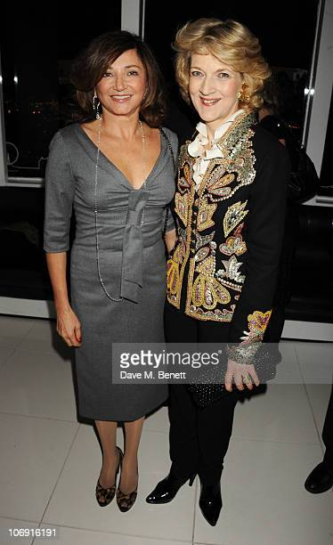 Dorrit Moussaieff and Fiona Shackleton attend The Evening Standard Influentials Party to celebrate the 1000 most influential people in London at...