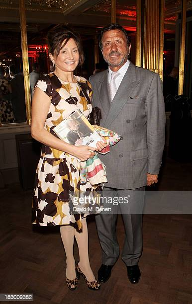 Dorrit Moussaieff and Rocco Forte attend the launch of Geordie Greig's new book Breakfast With Lucian on October 3 2013 in London England