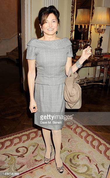 Dorrit Moussaieff attends as Robert Redford launches the inaugural Sundance London Film and Music Festival at the US Embassy on April 25 2012 in...