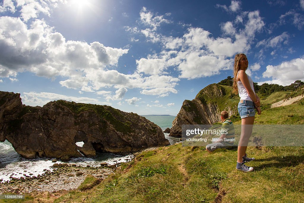 Dorset holiday snaps - stair hole : Stock Photo