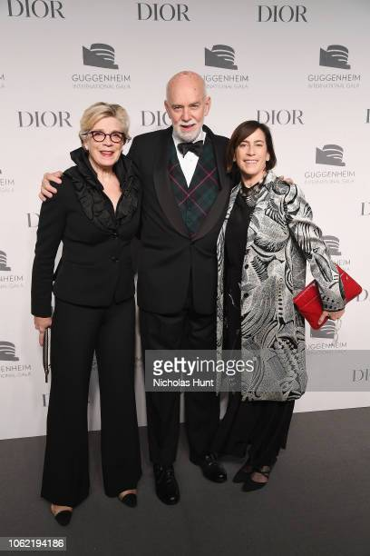 Dorsey Waxter Richard Armstrong and Madeleine Grynsztejn attend the Guggenheim International Gala Dinner made possible by Dior at Solomon R...