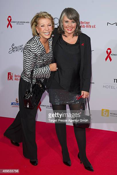 Dorthe Kollo and Nathalie Kollo attend the Artists Against Aids Gala 2014 at Theater des Westens on November 24 2014 in Berlin Germany