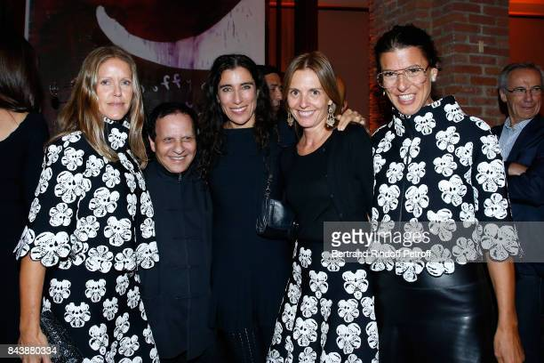Dorthe Steffensen Azzedine Alaia Blanca Li Clemence Krzentowski and Camille Miceli attend the 'Richard Wentworth a la Maison Alaia' Exhibition...