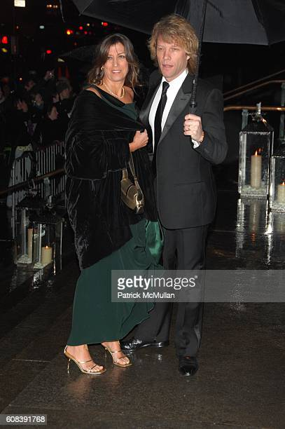 Dorthea Hurley and Jon Bon Jovi attend SIR ELTON JOHN 60TH BIRTHDAY PARTY ARRIVALS at St John The Divine on March 22 2007 in New York City