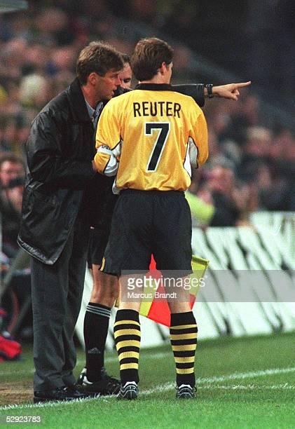 Dortmund BORUSSIA DORTMUND FEYENOORD ROTTERDAM 11 Trainer Michael SKIBBE Andreas MOELLER/DORTMUND