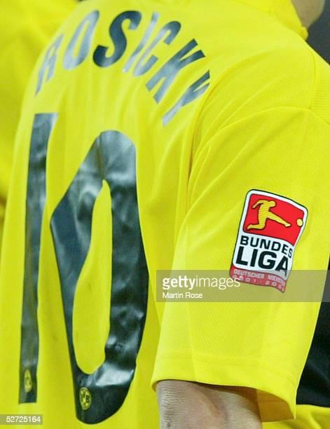 1 BUNDESLIGA 02/03 Dortmund BORUSSIA DORTMUND HERTHA BSC BERLIN 22 Neues Bundesliga Logo DFL auf den Trikots der Bundesliga Mannschaften
