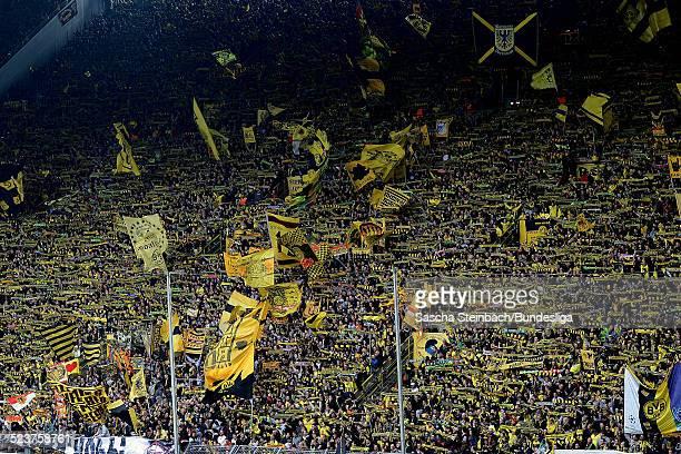 Dortmund Fans auf der Suedtribuene waehrend des Bundesligaspiels zwischen Borussia Dortmund und 1899 Hoffenheim im Signal Iduna Park am 18 Mai 2013...