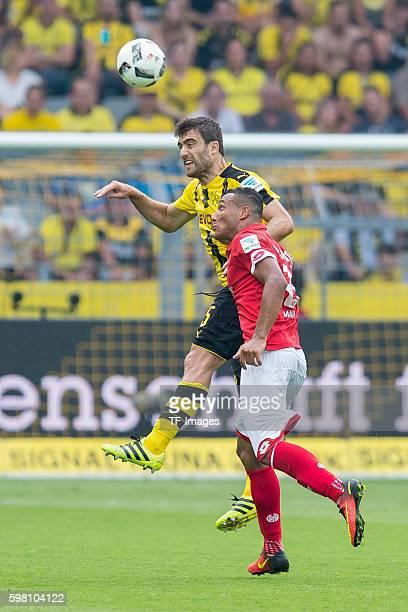 Dortmund Germany 1Bundesliga 1 Spieltag BV Borussia Dortmund 1 FSV Mainz 05 21 Sokratis gegen Karim Onisiwo