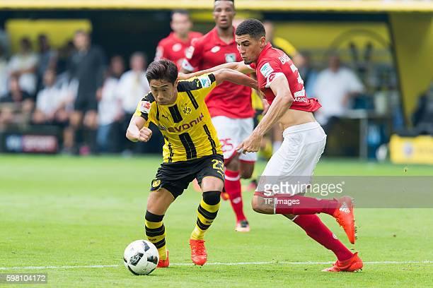 Dortmund Germany 1Bundesliga 1 Spieltag BV Borussia Dortmund 1 FSV Mainz 05 21 Shinji Kagawa gegen Leon Balogun