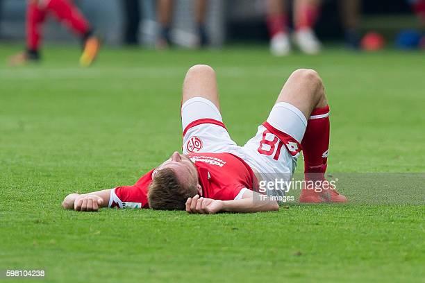Dortmund Germany 1Bundesliga 1 Spieltag BV Borussia Dortmund 1 FSV Mainz 05 21 Daniel Brosinski am boden